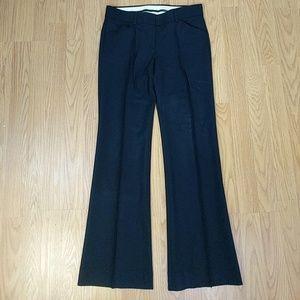 Theory black wool stretch black trouser pants sz 0